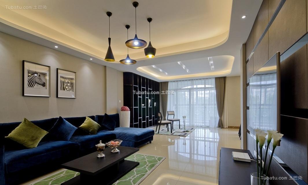 160平米现代四居室设计效果图