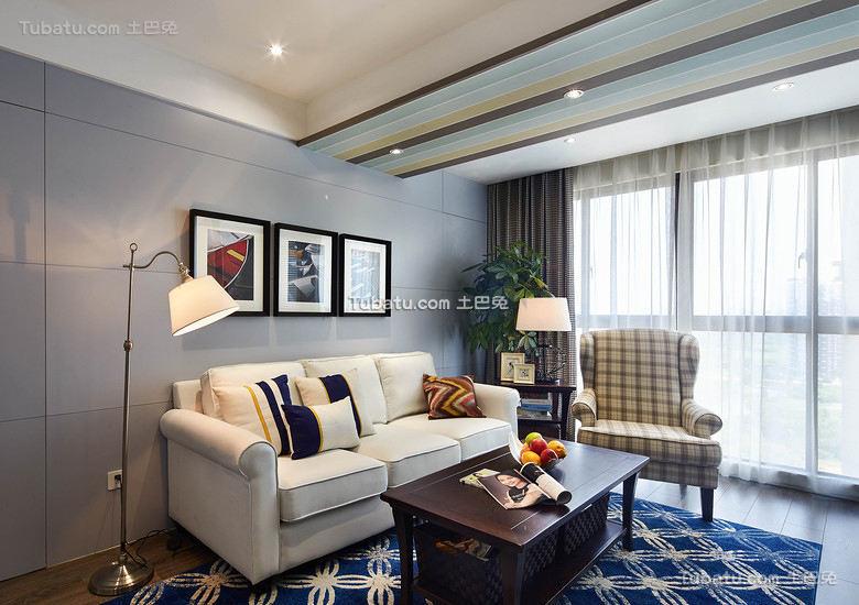 美式风格三居室装修室内效果图
