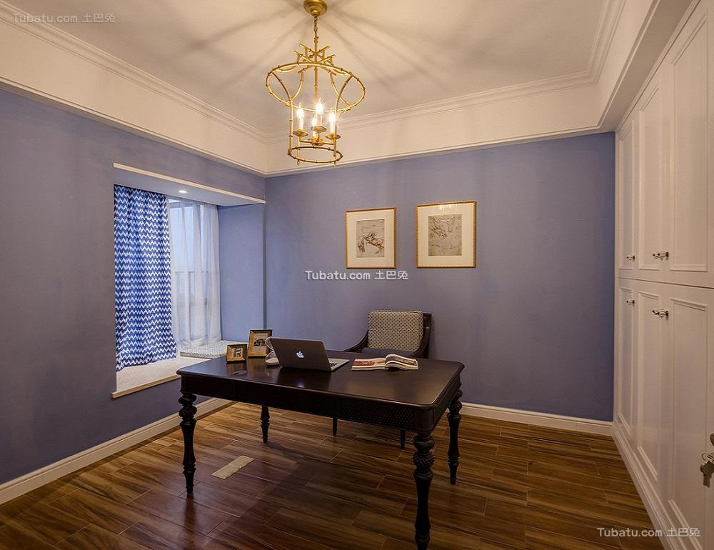 简欧别墅室内书房装修设计效果图