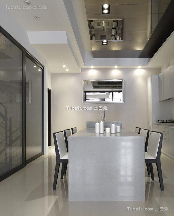 简约现代风格公寓餐厅设计效果图片