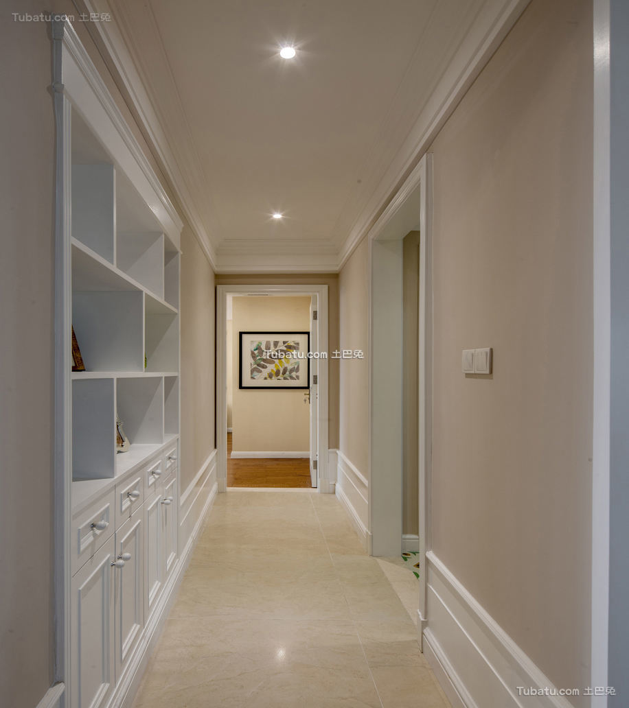 简欧别墅室内过道设计效果图欣赏