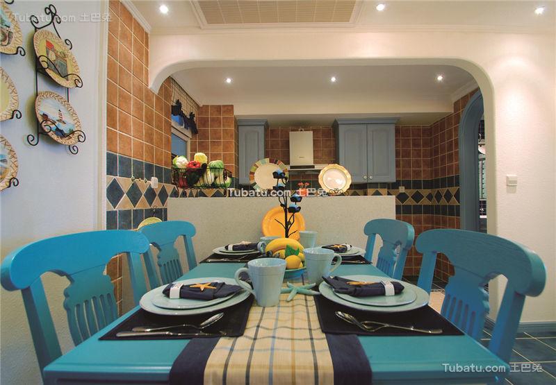 蓝色梦幻地中海餐厅案例