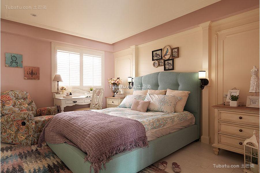 美式混搭唯美卧室装饰