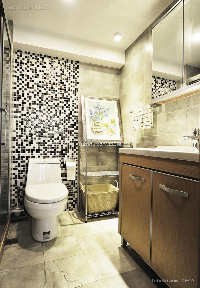 现代马赛克卫生间装饰设计
