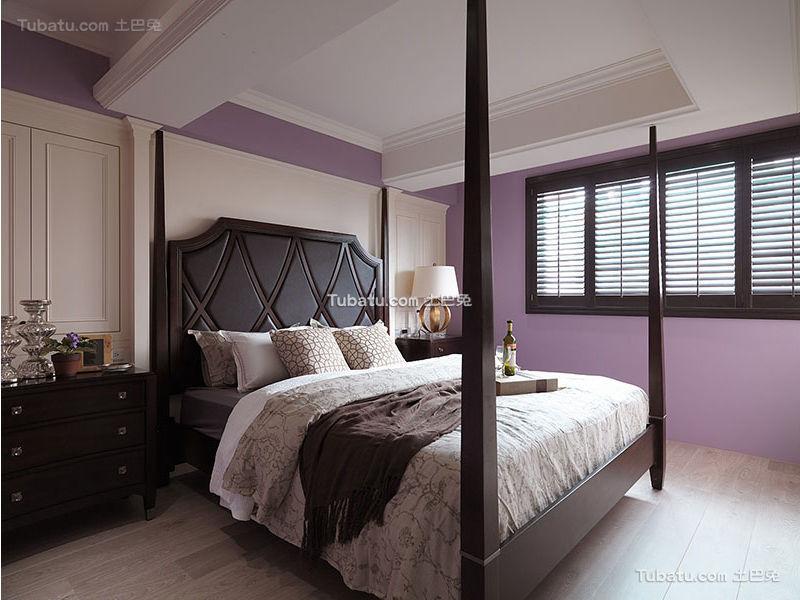 唯美紫色混搭卧室设计