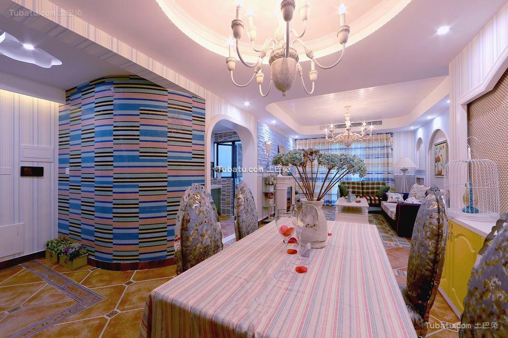 地中海装修餐厅图片2015