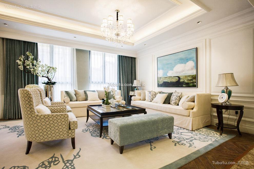 时尚豪华现代美式客厅设计