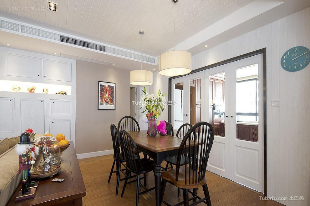 美式简约家居餐厅室内设计效果图