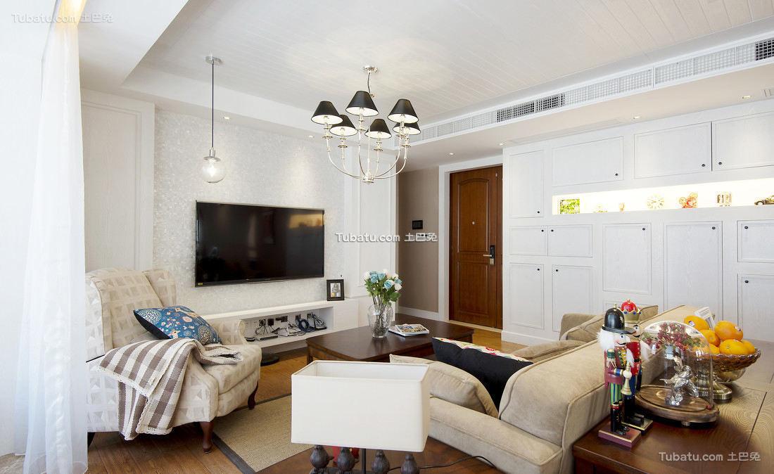 美式简约四居室室内设计效果图