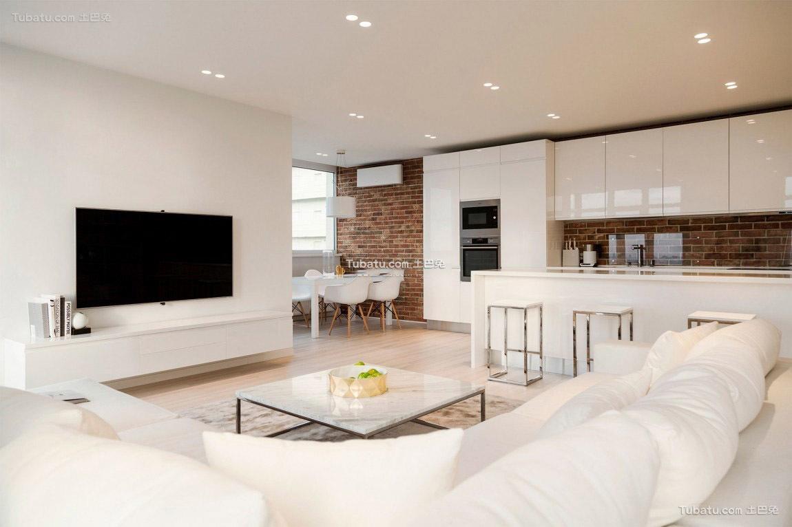 极简主义家居设计客厅效果图