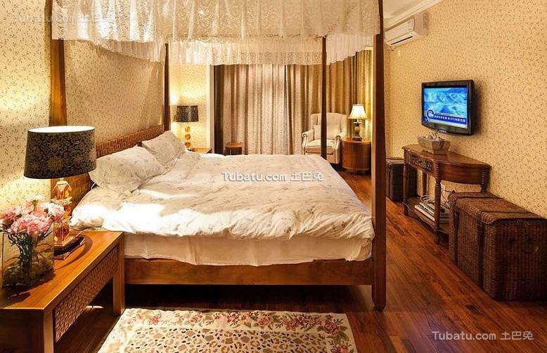 东南亚风格卧室装饰设计效果图