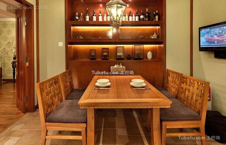 东南亚风格室内餐厅设计效果图