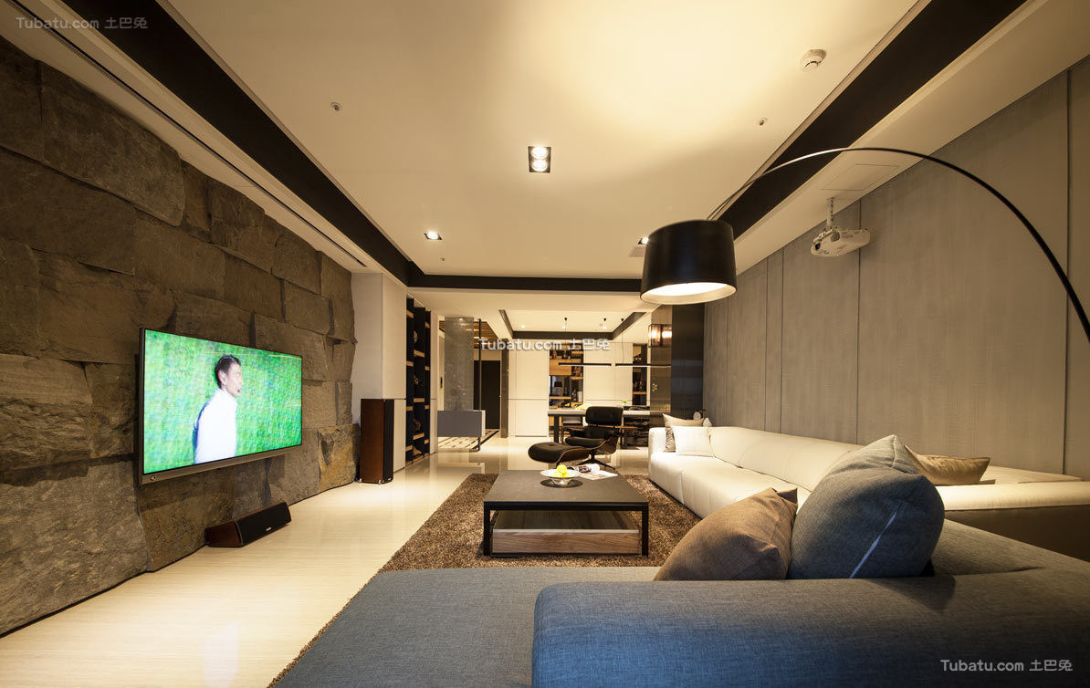 现代舒适一居室装饰设计效果图片