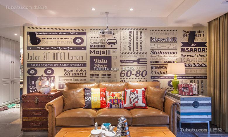 欧式复古设计三居室装修效果图片