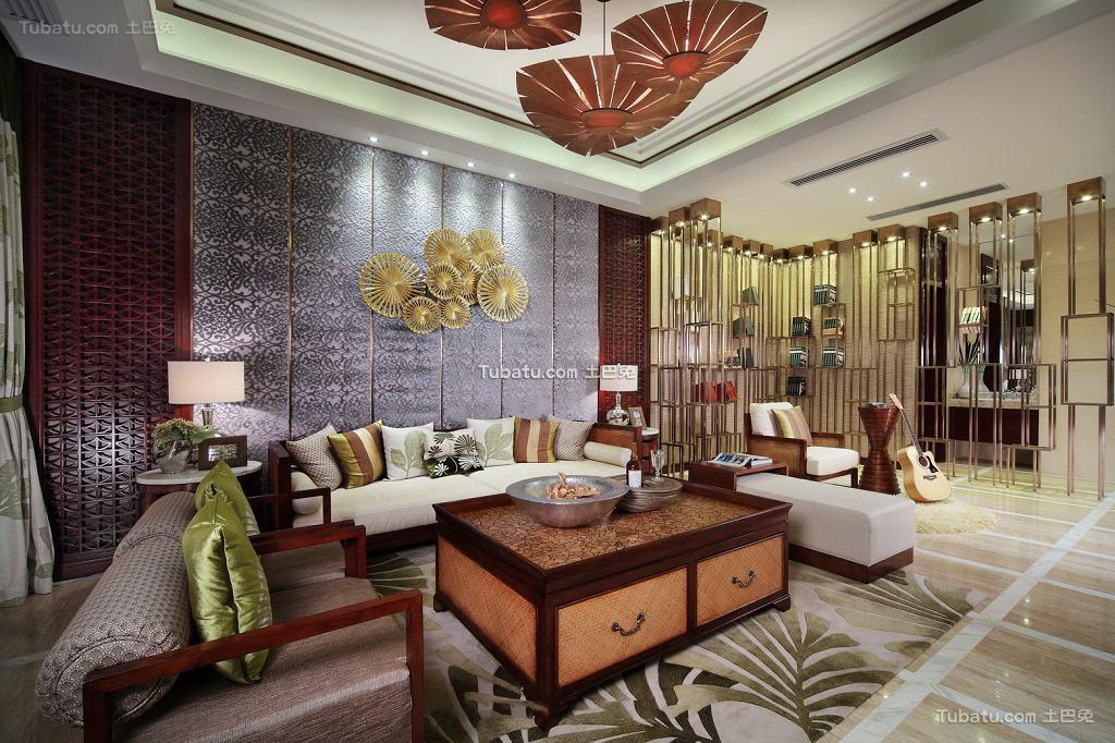 东南亚装修三室两厅欣赏大全