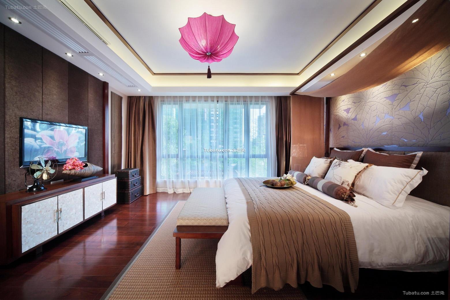 东南亚装修卧室吊顶设计
