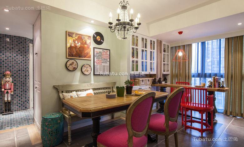 欧式复古设计餐厅装修效果图片