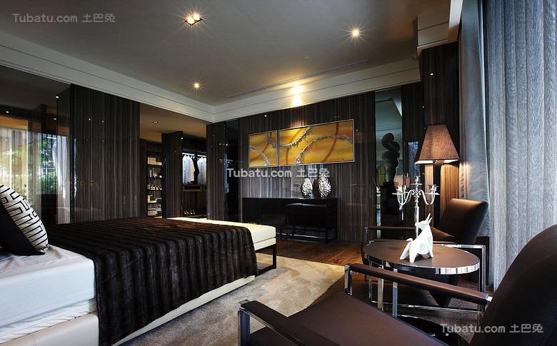 低奢现代风格卧室效果图