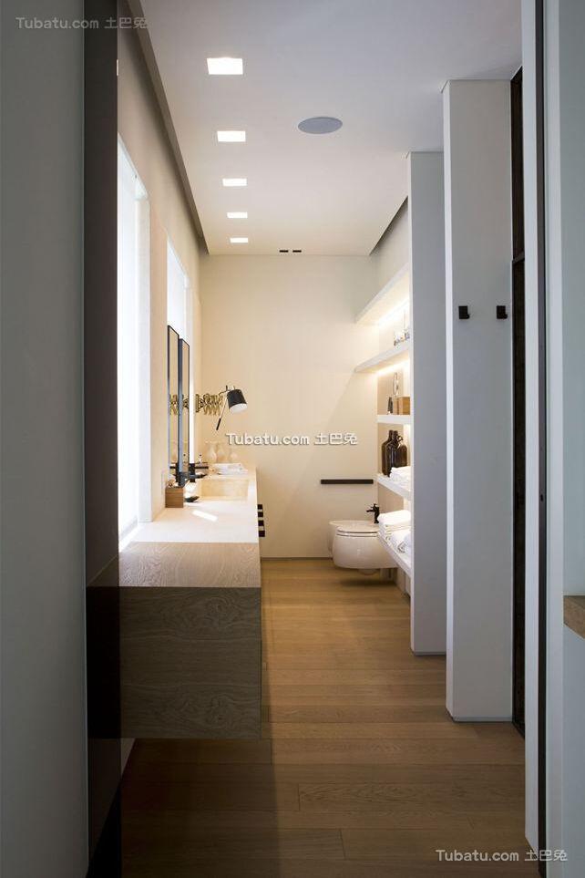 简约设计公寓卫生间装饰效果图