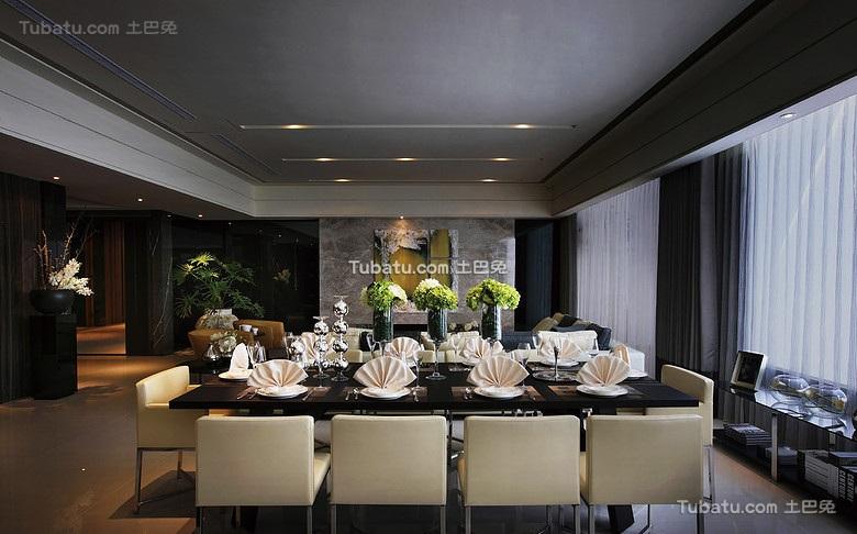 低奢现代风格餐厅设计