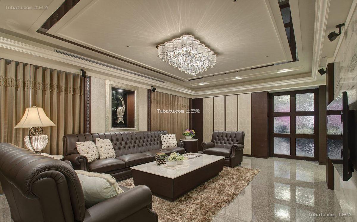 现代豪华别墅客厅设计效果图片