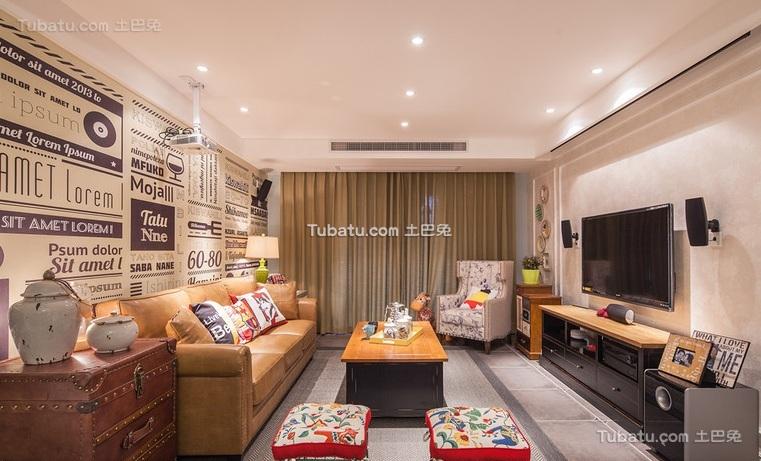 欧式复古设计家居客厅效果图片