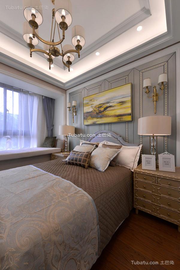 美式设计卧室吊顶图
