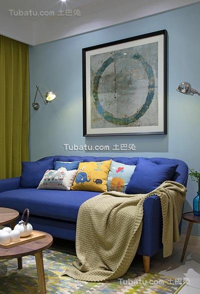 清新混搭宜家风格沙发设计