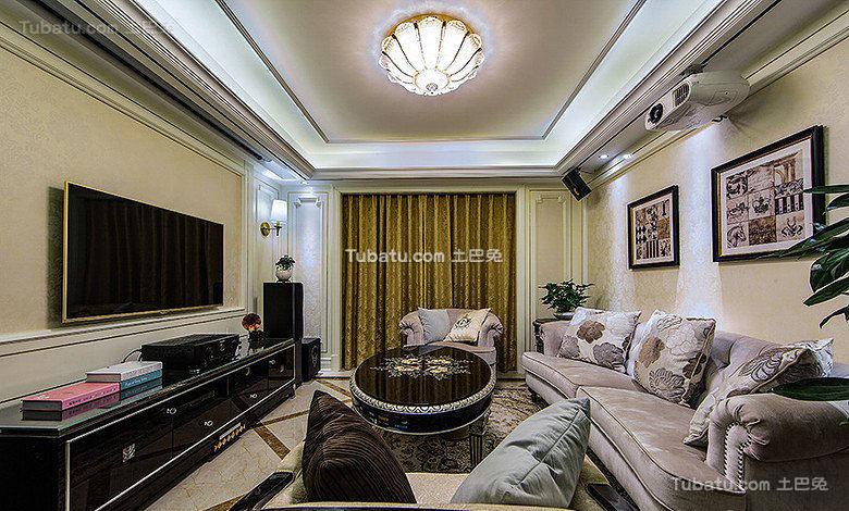 148平欧式四居室室内设计效果图