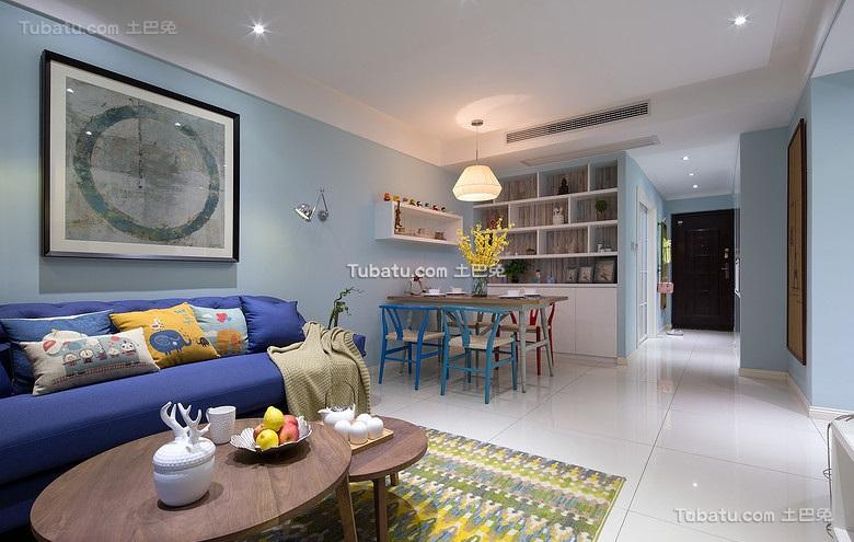 清新混搭宜家风格二居室设计