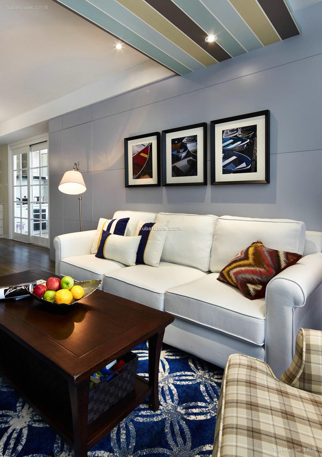 美式简约客厅家居装饰效果图