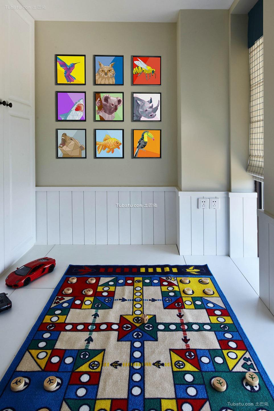 美式现代儿童房装饰效果图