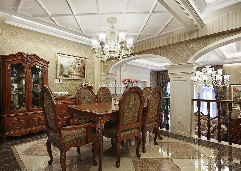 豪华古典欧式餐厅设计
