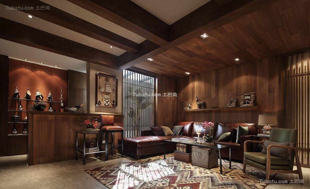 东南亚设计客厅吊顶欣赏