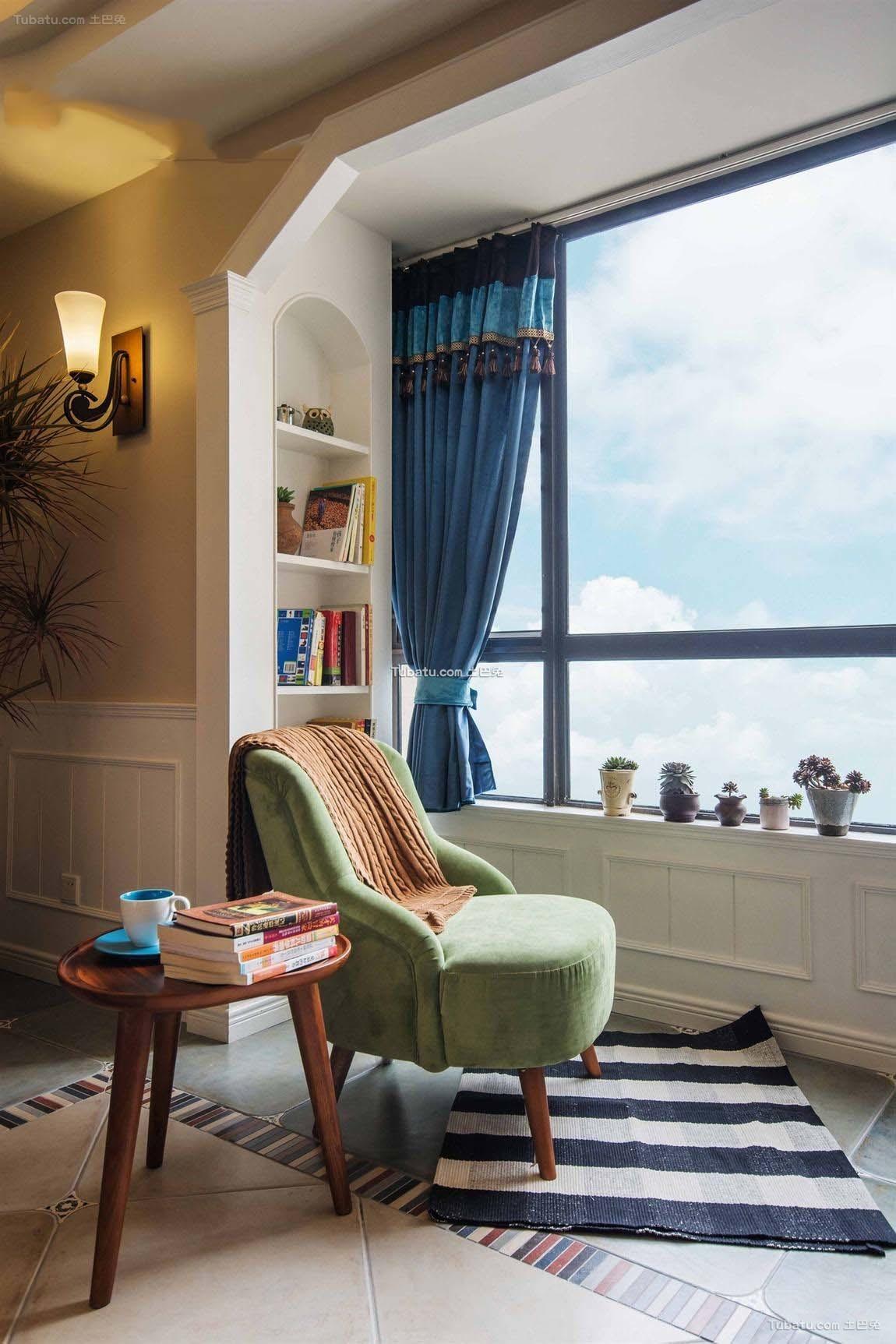 田园设计休闲区窗帘欣赏