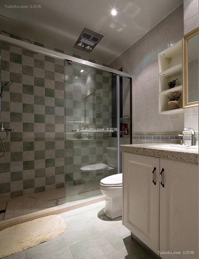 美式现代卫生间装饰设计效果图欣赏