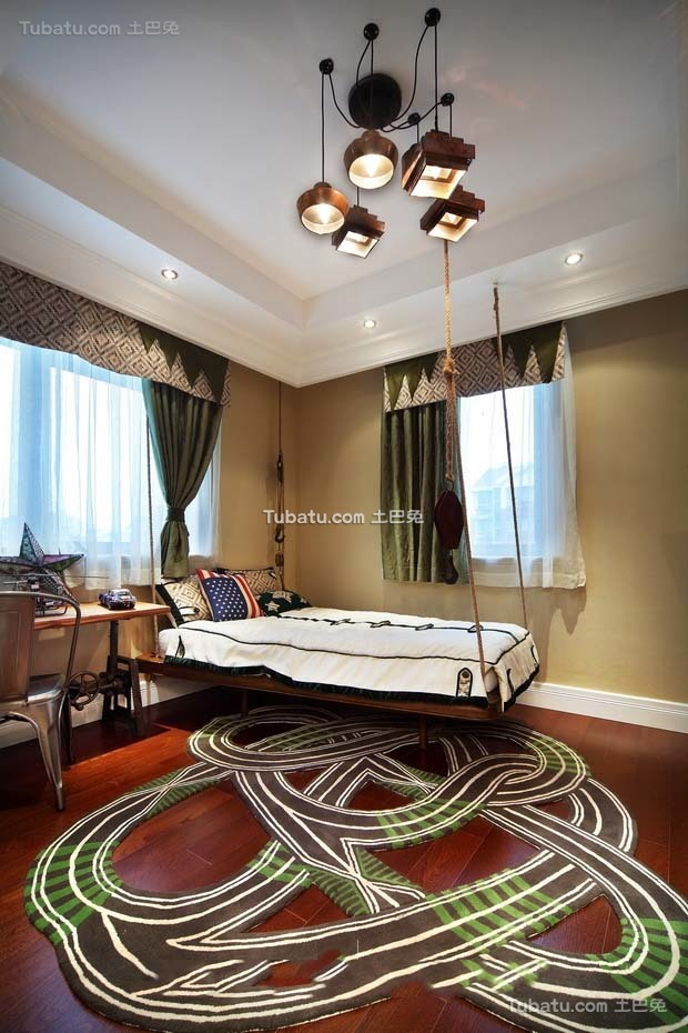 东南亚设计小卧室窗帘