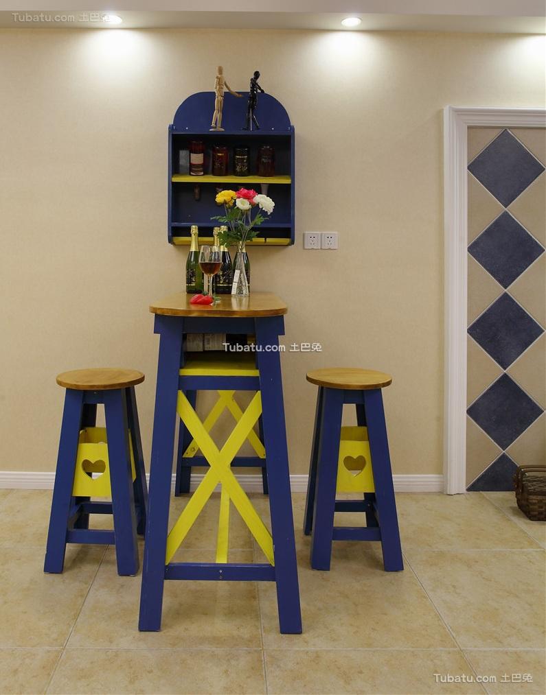 美式家居吧台装饰设计效果图
