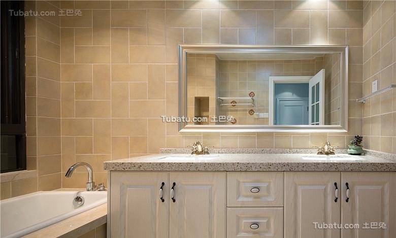 美式浴室家居装饰设计效果图欣赏
