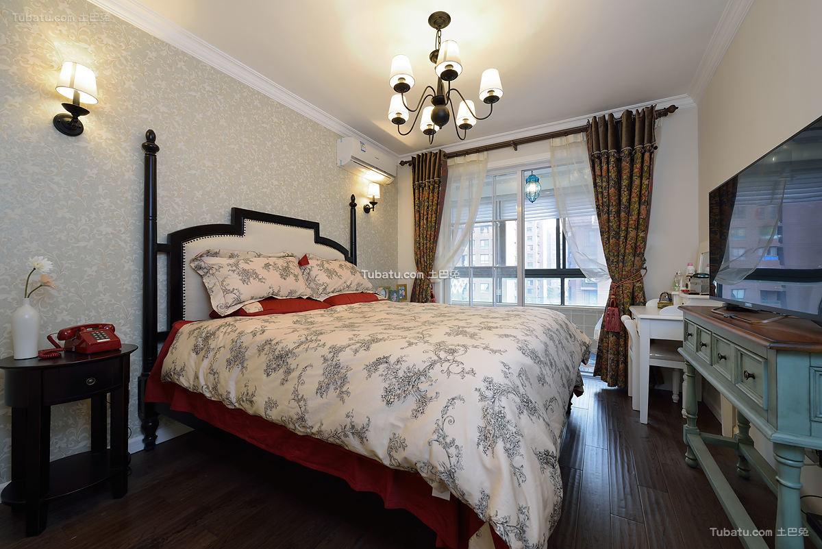 地中海风格卧室设计装修效果图