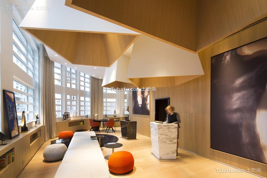 现代酒店室内极简设计图片