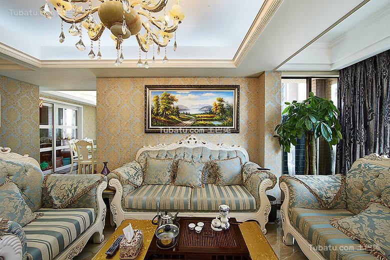 精致欧式客厅装修设计图