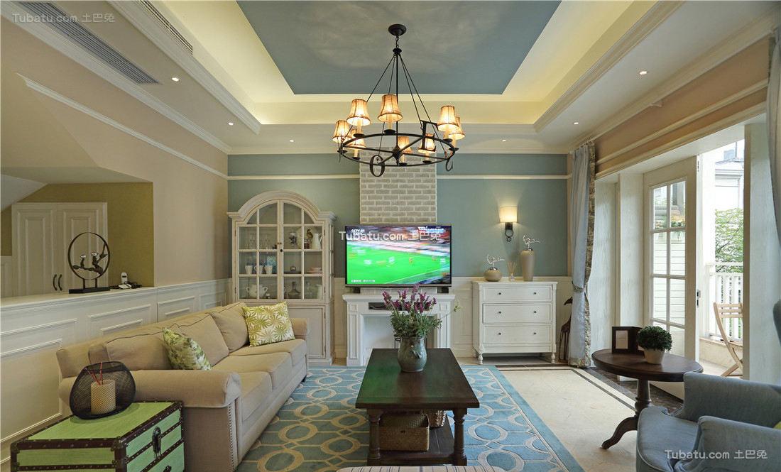 316平米美式别墅设计室内效果图片