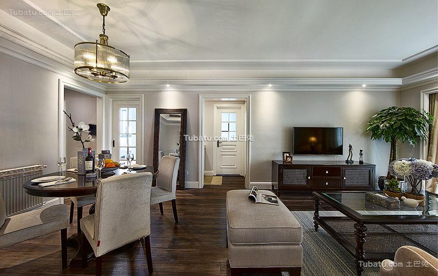 美式设计客厅电视背景墙欣赏