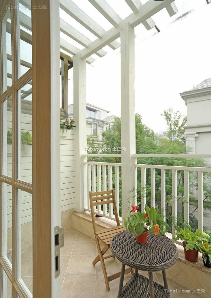 美式现代阳台设计效果图片