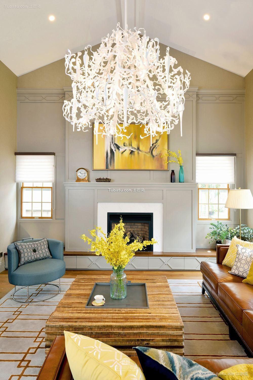 美式装修客厅吊灯图