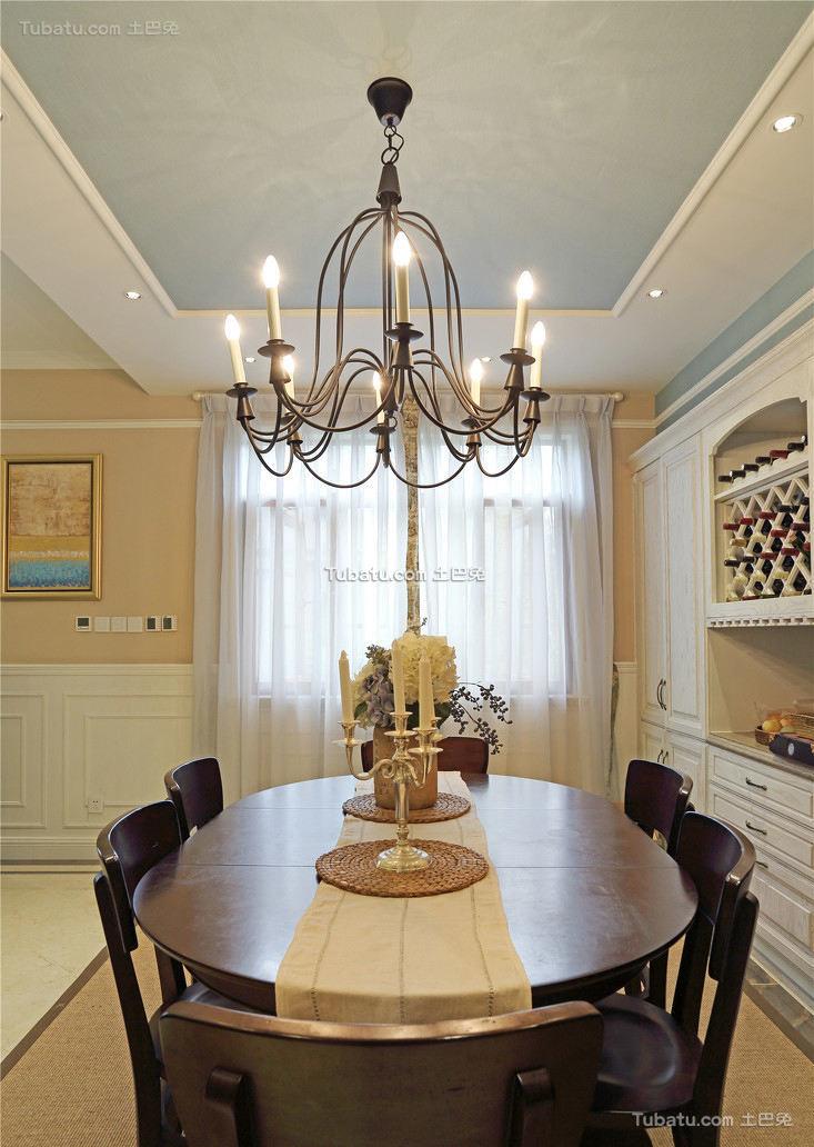 最新美式别墅餐厅室内效果图片