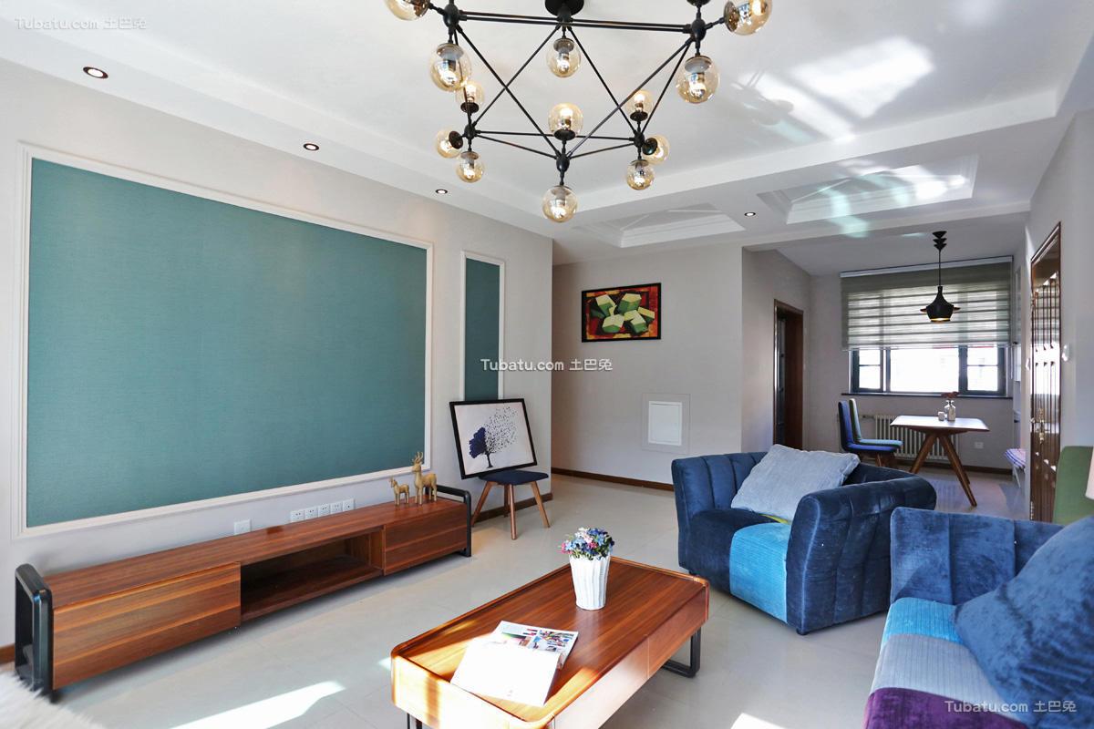 现代公寓客厅家居设计效果图