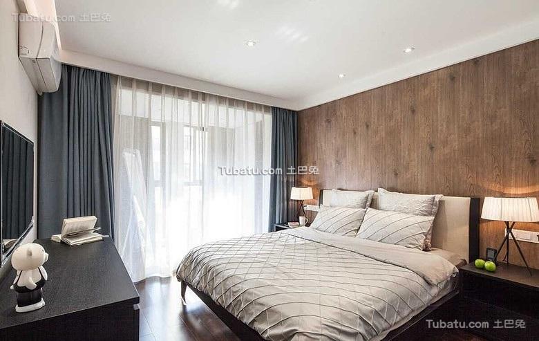商务简约设计卧室效果图