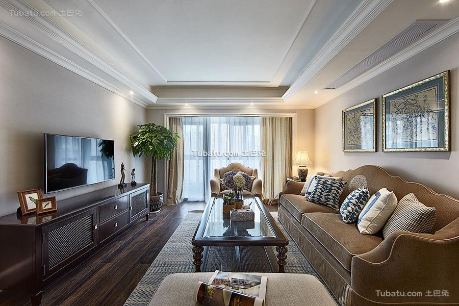 美式装修设计三室两厅欣赏图